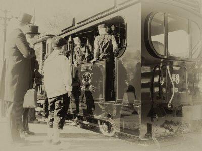 Op de locomotief Foto Hans Brinkel
